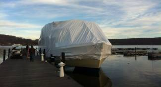 Fully wrapped boat